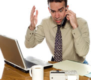 Stressed Accountant Royalty Free Stock Photos