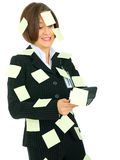 Stressed Accountant Holding Calculator Stock Images