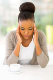 Stressed african woman Royalty Free Stock Images