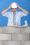 Stressed architect Royalty Free Stock Images