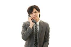 Stressed Asian businessman Stock Photos