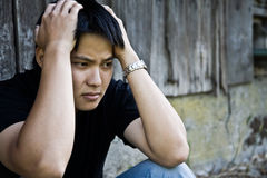 Stressed asian male Stock Image