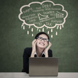 Stressed Beautiful Businesswoman Royalty Free Stock Photography