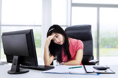 Stressed beautiful woman Stock Photo