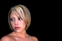 Stressed Blond Woman Stock Photo