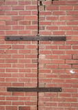 Stressed Brick Wall Background. Stock Image