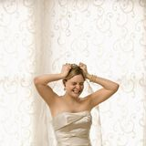 Stressed bride. Royalty Free Stock Photo