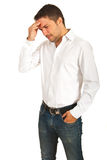 Stressed bsuiness man Royalty Free Stock Photo