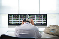 Stressed business broker Royalty Free Stock Photos
