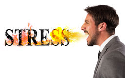 Stressed business life stock images