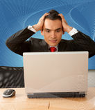 Stressed business man Royalty Free Stock Photography