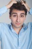 Stressed business man Stock Photos