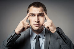 Stressed business man Royalty Free Stock Images