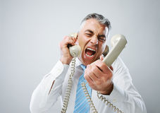 Stressed business man Royalty Free Stock Photos