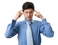 Stressed business man with a headache Stock Image