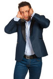 Stressed business man Stock Photography