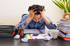 Stressed Business Man In  Office Royalty Free Stock Photo