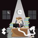 Stressed business man. In the office Royalty Free Stock Photography