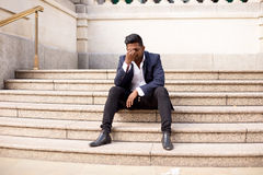 Stressed business man Royalty Free Stock Photo