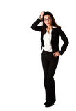 Stressed business woman Royalty Free Stock Image