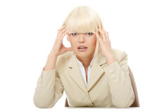 Stressed business woman Stock Images