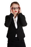 Stressed business woman Stock Photography