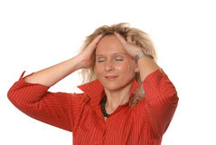 Stressed business woman Royalty Free Stock Photo