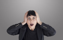 Stressed woman Royalty Free Stock Photography
