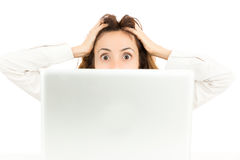 Stressed business woman Royalty Free Stock Photography