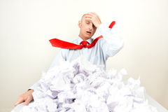 Stressed businessman Royalty Free Stock Photo
