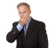 Stressed businessman Stock Images