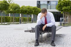 Stressed businessman Stock Photo