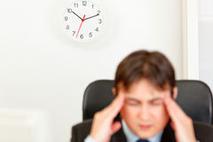 Free Stressed Businessman Aware Of Approaching Deadline Royalty Free Stock Photography - 17864687