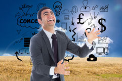 Stressed businessman catching Stock Photography