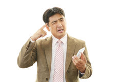 Stressed businessman stock photography