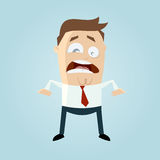 Stressed businessman with flickering eye Royalty Free Stock Photo