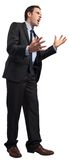Stressed businessman gesturing Royalty Free Stock Photography