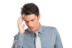 Stressed Businessman With headache Royalty Free Stock Photo