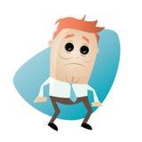 Stressed businessman. Illustration of a stressed businessman Stock Photo