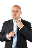 Stressed Businessman Loosening Royalty Free Stock Photo
