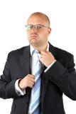 Stressed Businessman Loosening royalty free stock photo
