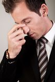 Stressed Businessman Man Royalty Free Stock Image