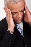 Stressed Businessman Man With Headache Stock Photography
