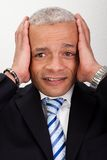 Stressed Businessman Man With Headache Royalty Free Stock Images