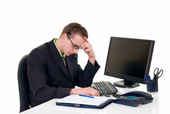 Stressed businessman office Royalty Free Stock Image