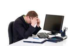 Stressed Businessman Office Stock Image