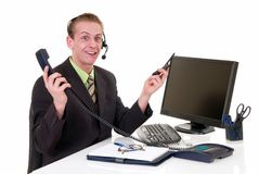 Stressed businessman office Stock Images