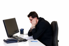 Stressed businessman office Royalty Free Stock Photography