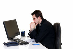Stressed businessman office Royalty Free Stock Photos