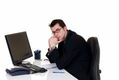 Stressed businessman office Stock Photos
